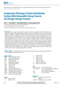 Cooperative Planning of Active Distribution System With ... - IEEE Xplore
