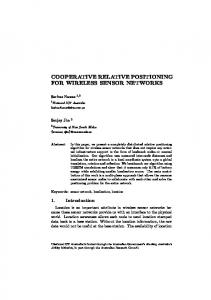 cooperative relative positioning for wireless sensor ... - Semantic Scholar