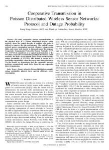 Cooperative Transmission in Poisson Distributed ... - IEEE Xplore