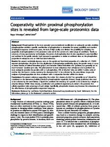 Cooperativity within proximal phosphorylation sites is ... - BioMedSearch