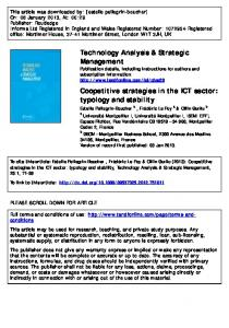 Coopetitive strategies in the ICT sector: typology and ...