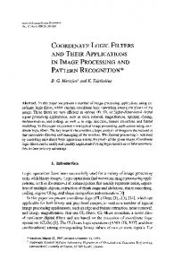 Coordinate logic filters and their applications in
