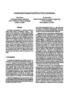Coordinated Checkpointing Without Direct ... - Semantic Scholar