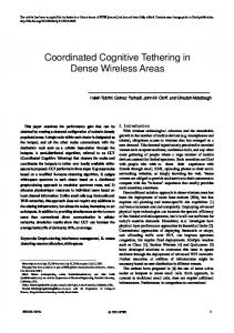 Coordinated Cognitive Tethering in Dense Wireless ...