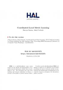 Coordinated Local Metric Learning - Core