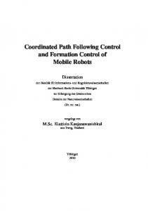 Coordinated Path Following Control and Formation Control of Mobile ...