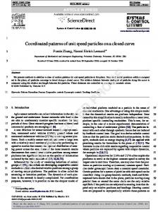 Coordinated patterns of unit speed particles on a closed curve