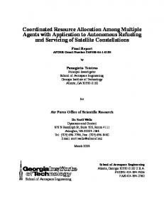 Coordinated Resource Allocation Among Multiple Agents with ...