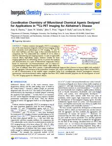Coordination Chemistry of Bifunctional Chemical ... - ACS Publications