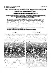 Coordination Compound: Structure and