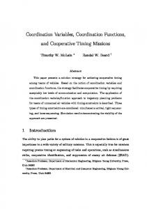 Coordination Variables, Coordination Functions, and ... - CiteSeerX