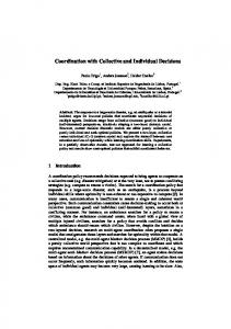 Coordination with Collective and Individual Decisions - UPF