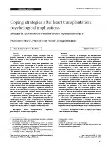Coping strategies after heart transplantation