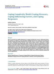 Coping Stressors, Coping Influencing Factors, and Coping Responses
