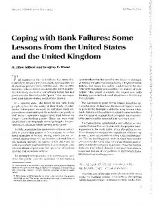 Coping with Bank Failures - Federal Reserve Bank of St. Louis