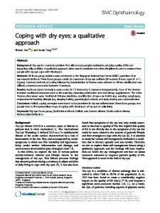 Coping with dry eyes: a qualitative approach