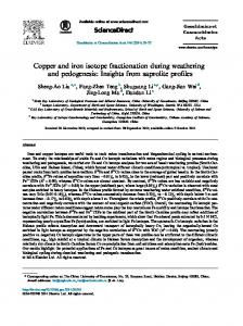 Copper and iron isotope fractionation during