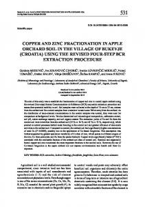 copper and zinc fractionation in apple orchard soil ... - Semantic Scholar