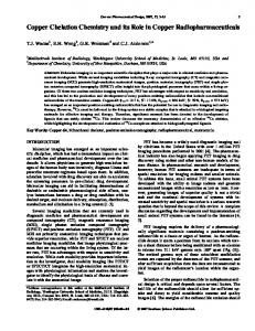 Copper Chelation Chemistry and its Role in Copper ... - CiteSeerX
