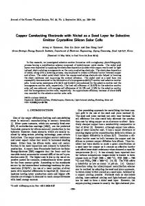 Copper Conducting Electrode with Nickel as a Seed ... - Springer Link