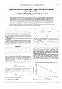 Copper Corrosion Mechanism in the Presence of Formic Acid Vapor