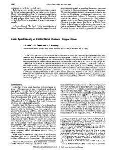 Copper Dimer - ACS Publications - American Chemical Society