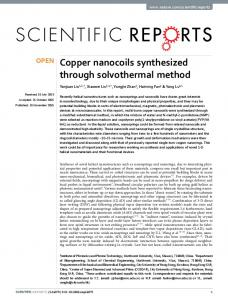 Copper nanocoils synthesized through solvothermal