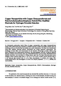 Copper Nanoparticles with Copper Hexacyanoferrate and Poly(3,4 ...