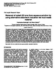 Copper removal from clayey soil by red mud - Academic Journals