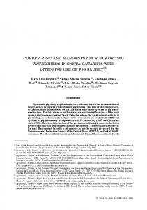 copper, zinc and manganese in soils of two watersheds in ... - SciELO