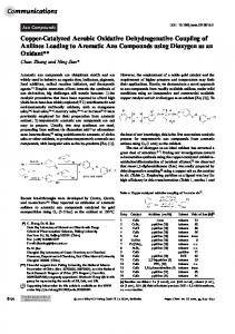 Copper‐Catalyzed Aerobic Oxidative Dehydrogenative Coupling of ...