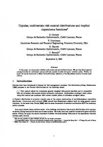 Copulas, multivariate risk-neutral distributions and