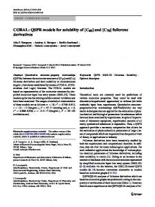 CORAL: QSPR models for solubility of [C60] and [C70] fullerene ...