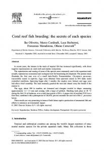 Coral reef fish breeding: the secrets of each species