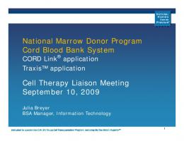 Cord Blood Bank System