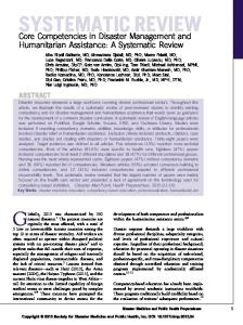 Core Competencies in Disaster Management and Humanitarian ...