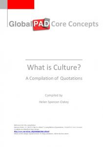 Core Concepts What is Culture? What is Culture? What is Culture?