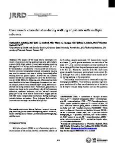 Core muscle characteristics during walking of ... - Semantic Scholar