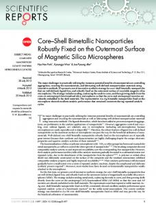 Core–Shell Bimetallic Nanoparticles Robustly Fixed ... - BioMedSearch