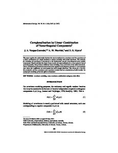 Coregionalization by Linear Combination of Nonorthogonal ...