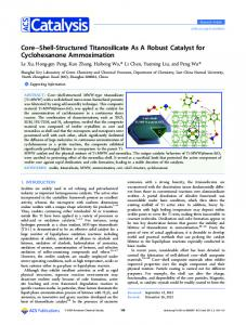 CoreShell-Structured Titanosilicate As A Robust Catalyst for