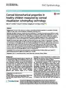 Corneal biomechanical properties in healthy ... - Semantic Scholar