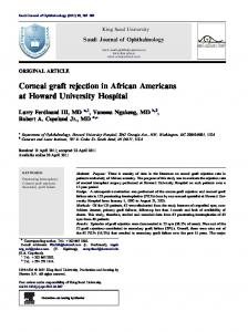 Corneal graft rejection in African Americans at Howard ... - Core