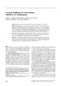 Corneal Synthesis of a 1-Proteinase Inhibitor (al