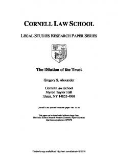 cornell law school - Papers.ssrn.com