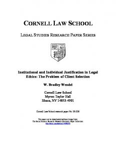 cornell law school - SSRN papers