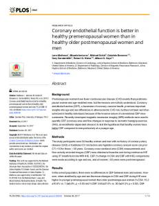 Coronary endothelial function is better in healthy ... - Semantic Scholar