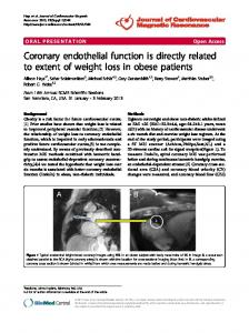 Coronary endothelial function is directly related to ... - Springer Link