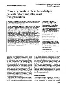 Coronary events in obese hemodialysis patients ... - Wiley Online Library