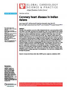 Coronary heart disease in Indian Asians - BioMedSearch